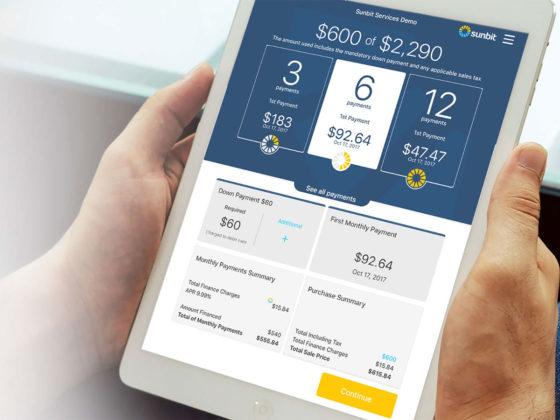店舗内ですぐに申し込める、少額融資サービスSunbit